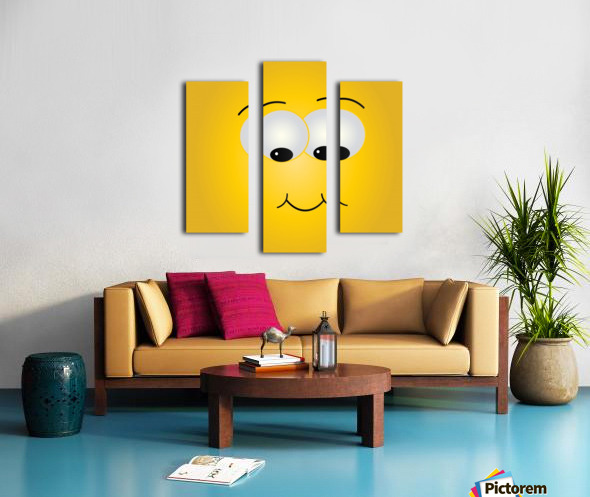 Smiling Puffy  Canvas print