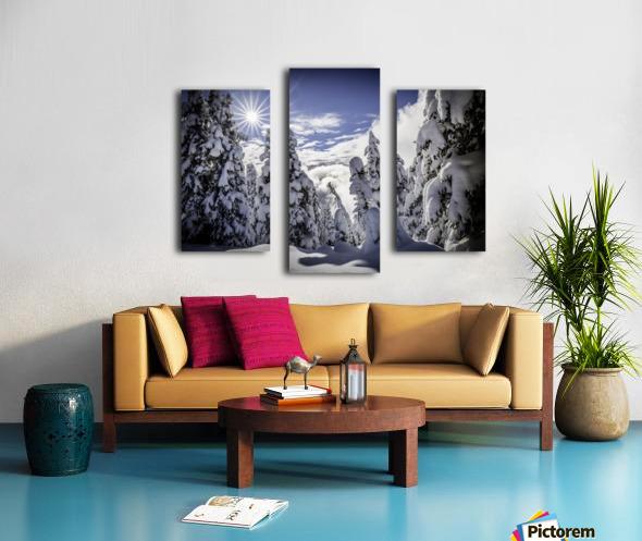 Kootenay Alpine Snow Canvas print
