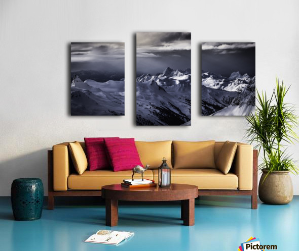 Mountain moods Whistler BC Back-country  Canvas print
