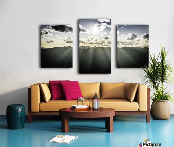 Selkirk Mountain ridge Line Kaslo BC Canvas print