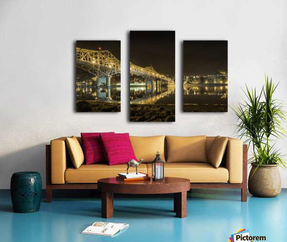 Cold refection under the B.O.B Nelson BC Canvas print