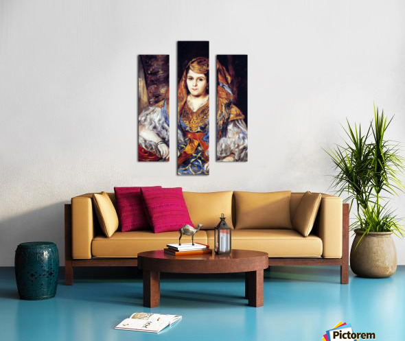 Algerian Woman by Renoir Canvas print