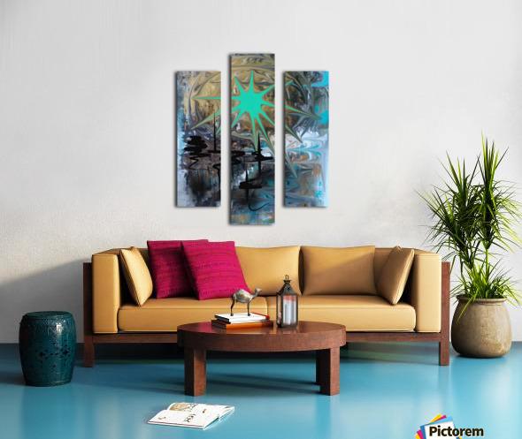 galactic fullmoon Canvas print