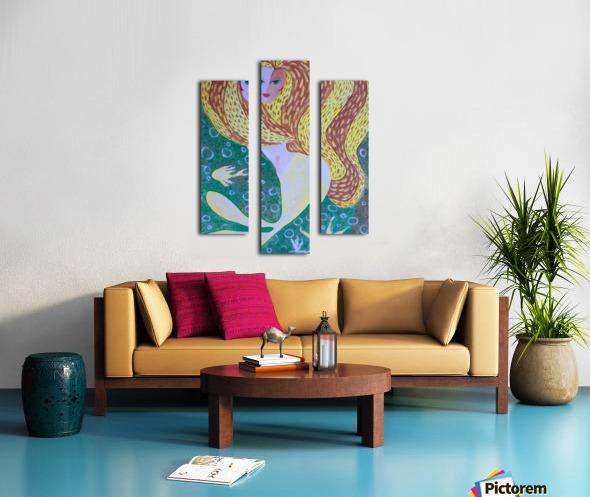 Mermaid Underwater  Canvas print