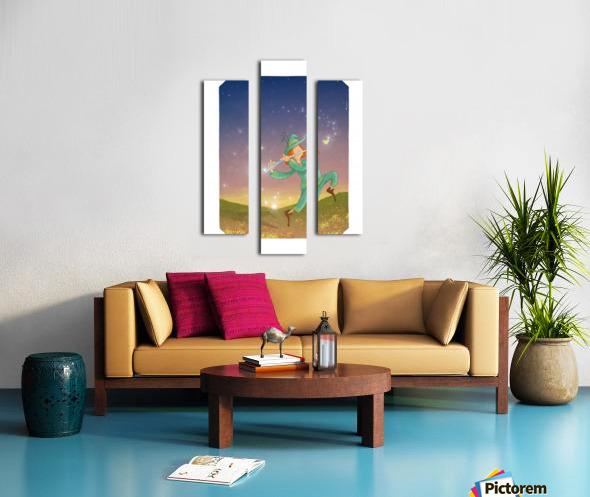 The Dazzling Flutist Canvas print