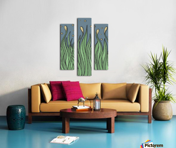 The Dancing Grass Canvas print