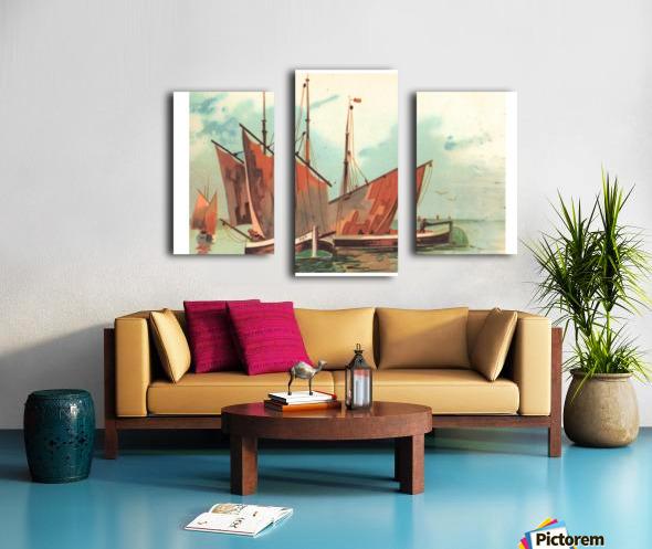Greeting card Sailing boats Canvas print