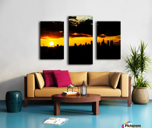 LA On fire Canvas print