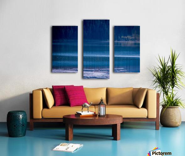 Rocky Mountains Deep Blue Canvas print