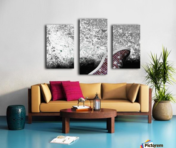 Shoes On Canvas print