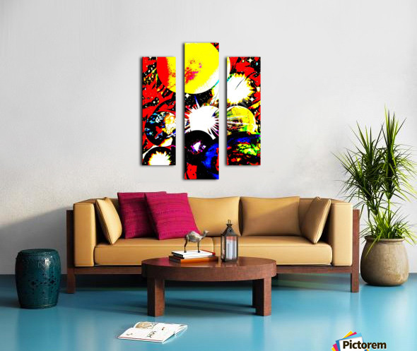 Clash of Worlds Canvas print
