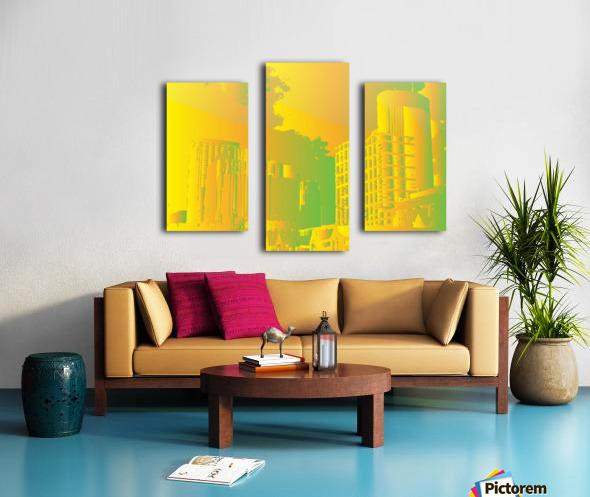 Abstract Building Minneapolis Skyline Canvas print