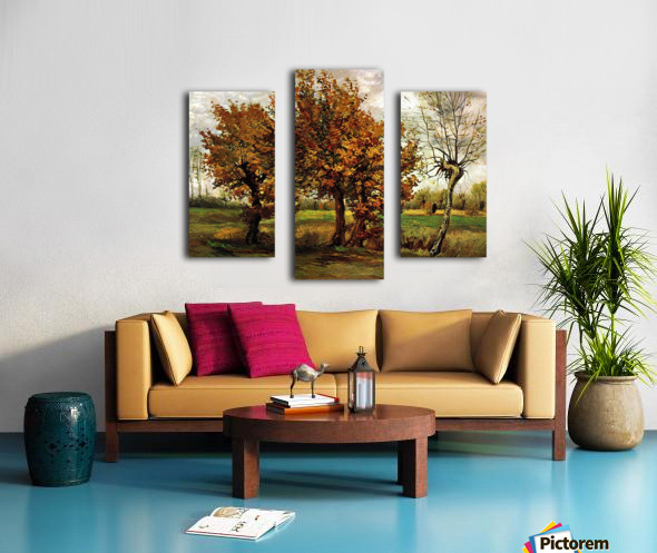 Autumn Landscape with Four Trees by Van Gogh Canvas print