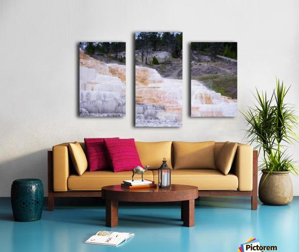 Yellowstone Lower Terrace Canvas print