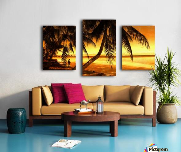 Fiery Hour Saipan Canvas print