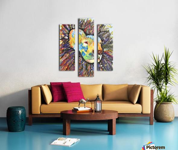Lively Lion.Maggie Z Canvas print