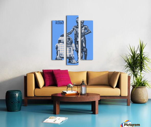 C3PO & R2D2 Canvas print