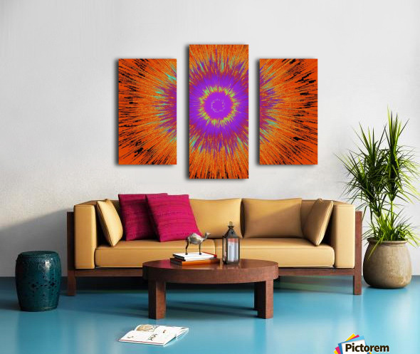 Abstract Sun 33 Canvas print