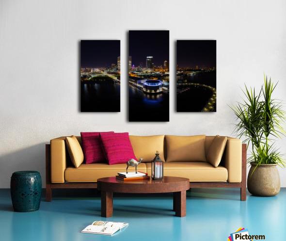 Milwaukee Circle of Lights Canvas print