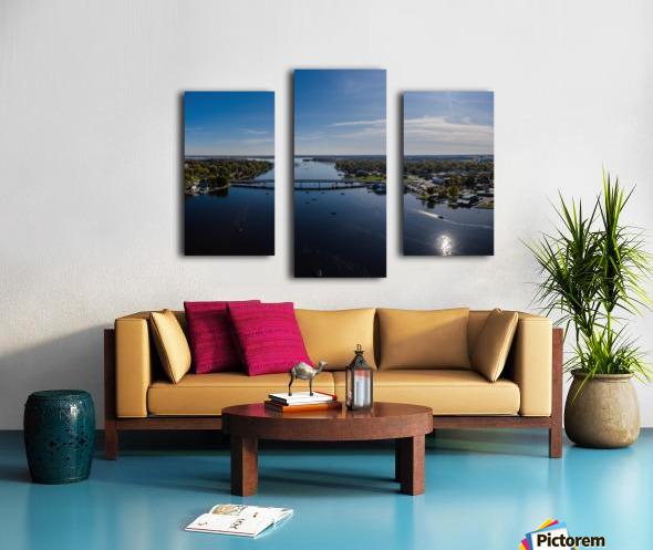 Bridges to Winneconne Impression sur toile