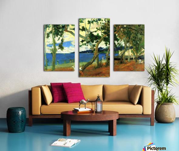 Beach Scene 2 by Gauguin Canvas print