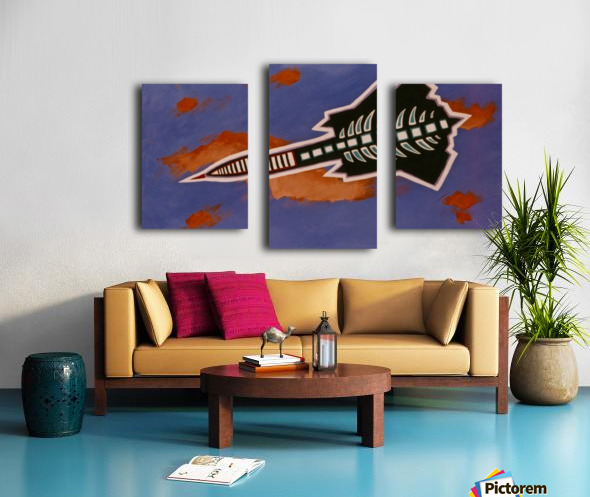 Rocket Ship Canvas print
