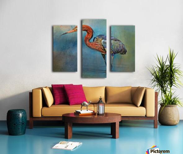 Painted Reddish Egret Canvas print
