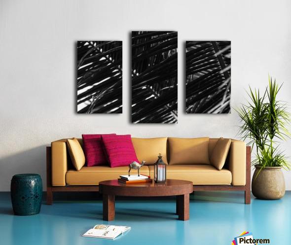 Dark Lines Canvas print
