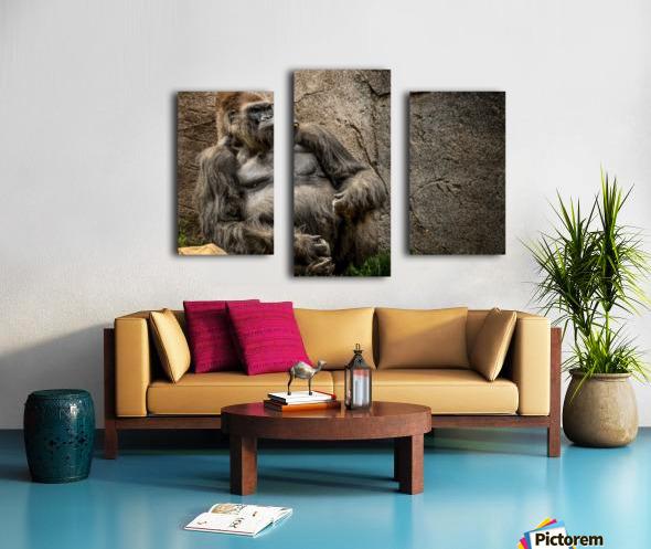 Big Daddy Silverback Gorilla Canvas print