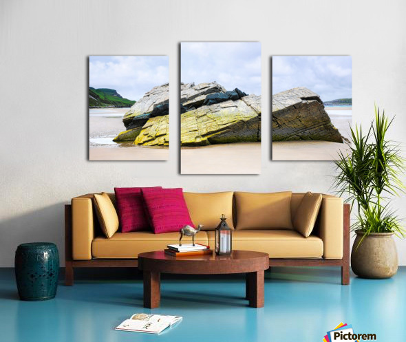 Rock Formations - Maghera Beach Canvas print
