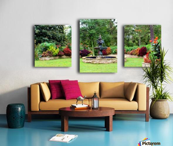 Crescent Gardens Canvas print