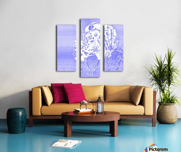 Jacle blue print Canvas print