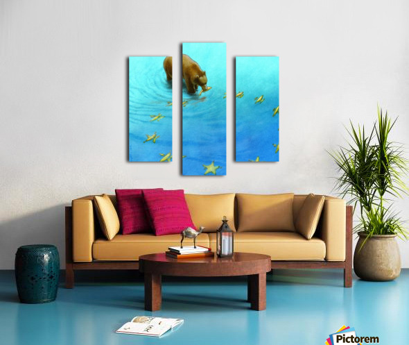 gold fishes Canvas print