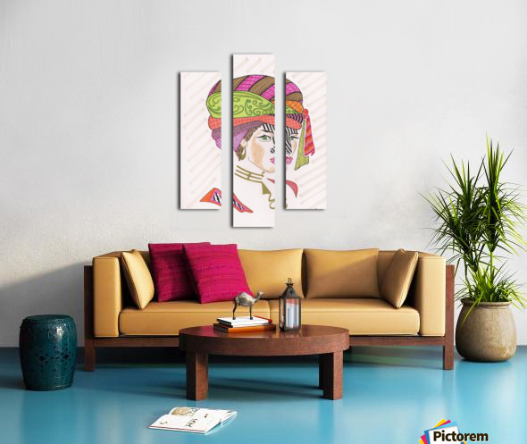 A Woman of a Different Stripe Canvas print