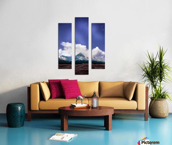 Blue Sky Over The Mountain Canvas print