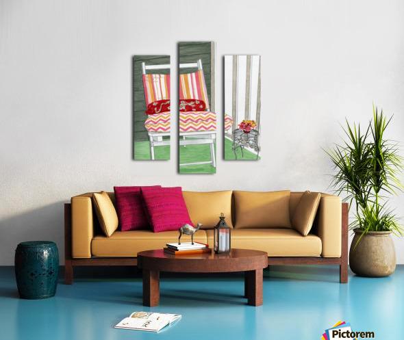Beach Chair Sans Beach Canvas print