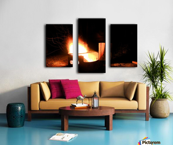 Ask the Campfire Canvas print