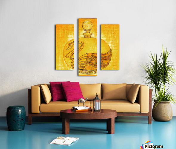 Bottled Gold Swan Canvas print