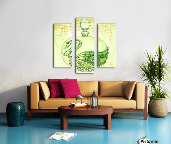Bottled Lemon Swan Canvas print