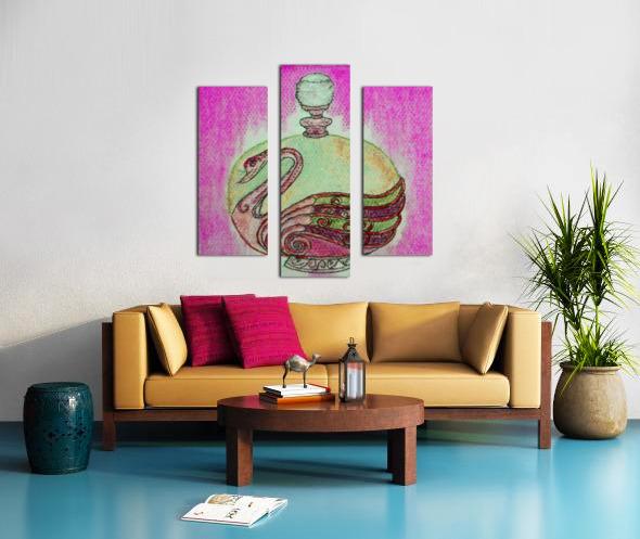 Bottled Purple Swan Canvas print