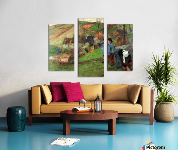 Breton Shepherd by Gauguin Canvas print