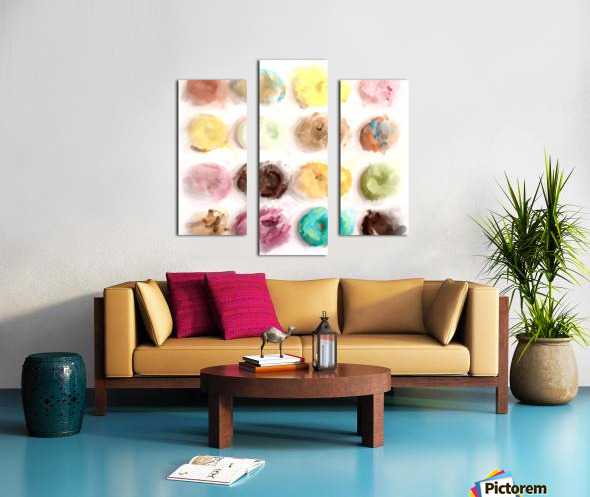 Donut Painting No2 Canvas print