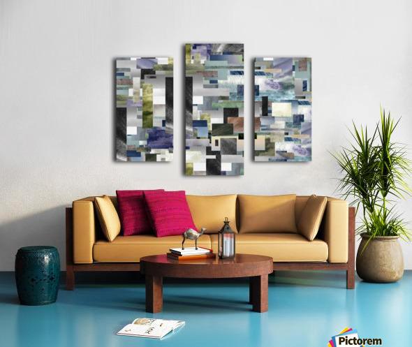 Gray Geometry Watercolor Geometrics Decorative Blocks XIV Canvas print