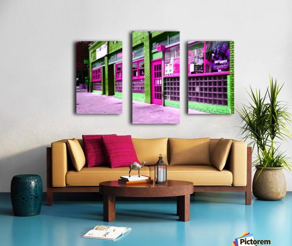 Atlanta Street Scene -- Fuchsia & Lime Canvas print