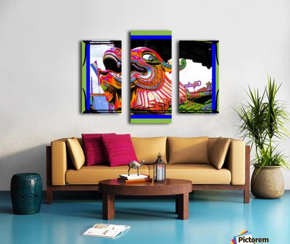 Carnival Creature in Bright Colors Canvas print