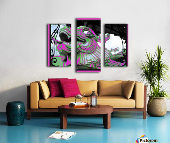 Carnival Creature in Purple & Green Canvas print
