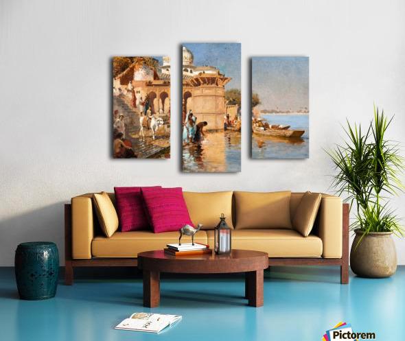 Along the Ghats, Mathura Canvas print
