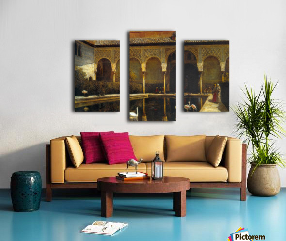A Court in the Alhambra Canvas print