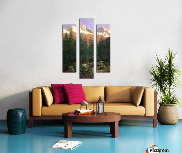 Canadian Rockies by Bierstadt Canvas print
