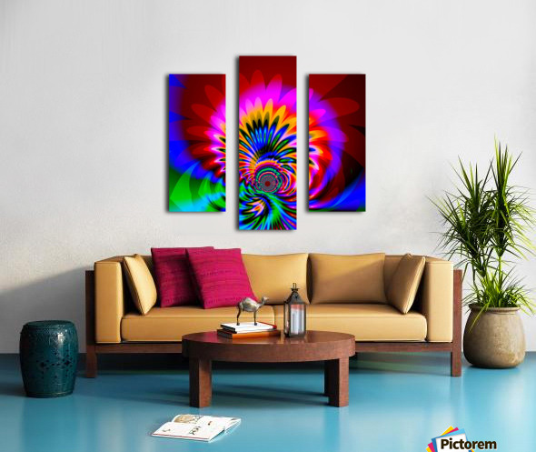 Psychedelic_Flower_series_3 Canvas print